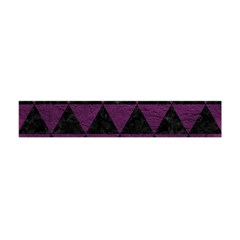Triangle3 Black Marble & Purple Leather Flano Scarf (mini) by trendistuff