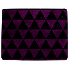 Triangle3 Black Marble & Purple Leather Jigsaw Puzzle Photo Stand (rectangular) by trendistuff