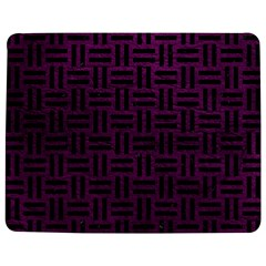 Woven1 Black Marble & Purple Leather Jigsaw Puzzle Photo Stand (rectangular) by trendistuff