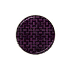 Woven1 Black Marble & Purple Leather (r) Hat Clip Ball Marker (4 Pack) by trendistuff
