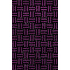 Woven1 Black Marble & Purple Leather (r) 5 5  X 8 5  Notebooks by trendistuff