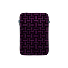 Woven1 Black Marble & Purple Leather (r) Apple Ipad Mini Protective Soft Cases by trendistuff