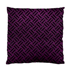 Woven2 Black Marble & Purple Leather Standard Cushion Case (one Side) by trendistuff