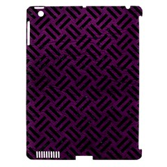 Woven2 Black Marble & Purple Leather Apple Ipad 3/4 Hardshell Case (compatible With Smart Cover) by trendistuff