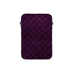Woven2 Black Marble & Purple Leather Apple Ipad Mini Protective Soft Cases by trendistuff
