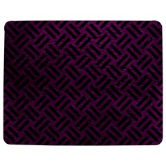 Woven2 Black Marble & Purple Leather Jigsaw Puzzle Photo Stand (rectangular) by trendistuff