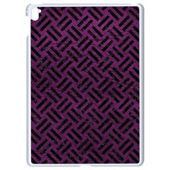 Woven2 Black Marble & Purple Leather Apple Ipad Pro 9 7   White Seamless Case by trendistuff
