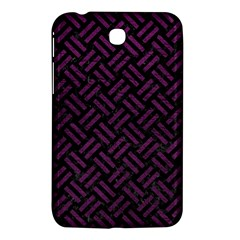 Woven2 Black Marble & Purple Leather (r) Samsung Galaxy Tab 3 (7 ) P3200 Hardshell Case  by trendistuff