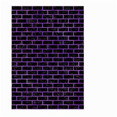 Brick1 Black Marble & Purple Watercolor (r) Large Garden Flag (two Sides) by trendistuff