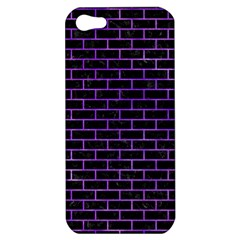 Brick1 Black Marble & Purple Watercolor (r) Apple Iphone 5 Hardshell Case by trendistuff