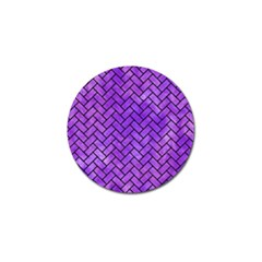 Brick2 Black Marble & Purple Watercolor Golf Ball Marker (10 Pack) by trendistuff
