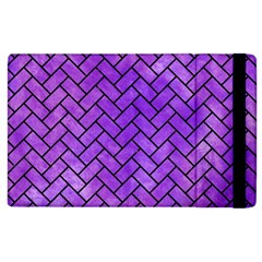 Brick2 Black Marble & Purple Watercolor Apple Ipad 2 Flip Case by trendistuff