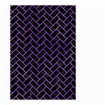 BRICK2 BLACK MARBLE & PURPLE WATERCOLOR (R) Small Garden Flag (Two Sides) Back