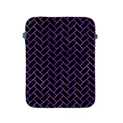 Brick2 Black Marble & Purple Watercolor (r) Apple Ipad 2/3/4 Protective Soft Cases