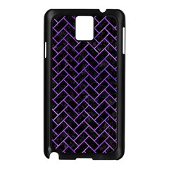 Brick2 Black Marble & Purple Watercolor (r) Samsung Galaxy Note 3 N9005 Case (black) by trendistuff
