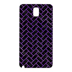 Brick2 Black Marble & Purple Watercolor (r) Samsung Galaxy Note 3 N9005 Hardshell Back Case