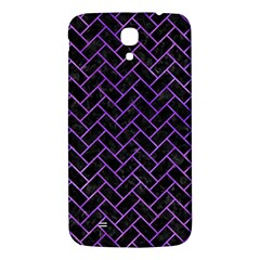 Brick2 Black Marble & Purple Watercolor (r) Samsung Galaxy Mega I9200 Hardshell Back Case by trendistuff