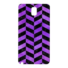 Chevron1 Black Marble & Purple Watercolor Samsung Galaxy Note 3 N9005 Hardshell Back Case