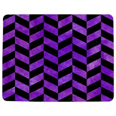 Chevron1 Black Marble & Purple Watercolor Jigsaw Puzzle Photo Stand (rectangular) by trendistuff