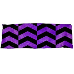 Chevron2 Black Marble & Purple Watercolor Body Pillow Case Dakimakura (two Sides) by trendistuff