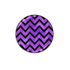 Chevron9 Black Marble & Purple Watercolor Hat Clip Ball Marker (10 Pack) by trendistuff