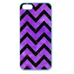 Chevron9 Black Marble & Purple Watercolor Apple Seamless Iphone 5 Case (color) by trendistuff