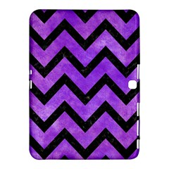 Chevron9 Black Marble & Purple Watercolor Samsung Galaxy Tab 4 (10 1 ) Hardshell Case  by trendistuff