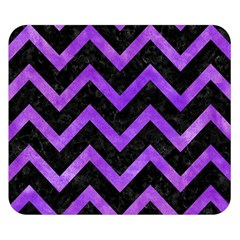 Chevron9 Black Marble & Purple Watercolor (r) Double Sided Flano Blanket (small)  by trendistuff