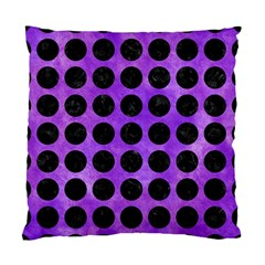 Circles1 Black Marble & Purple Watercolor Standard Cushion Case (two Sides) by trendistuff
