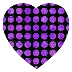 Circles1 Black Marble & Purple Watercolor (r) Jigsaw Puzzle (heart) by trendistuff