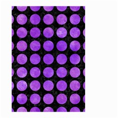 Circles1 Black Marble & Purple Watercolor (r) Small Garden Flag (two Sides) by trendistuff