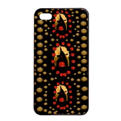 Pumkin Witch In Candles And White Magic Apple Iphone 4/4s Seamless Case (black) by pepitasart
