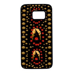 Pumkin Witch In Candles And White Magic Samsung Galaxy S7 Black Seamless Case by pepitasart
