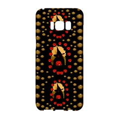 Pumkin Witch In Candles And White Magic Samsung Galaxy S8 Hardshell Case  by pepitasart