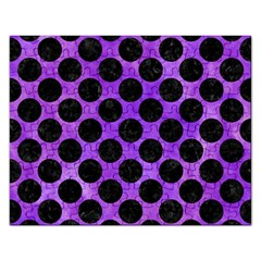 Circles2 Black Marble & Purple Watercolor Rectangular Jigsaw Puzzl by trendistuff
