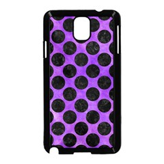 Circles2 Black Marble & Purple Watercolor Samsung Galaxy Note 3 Neo Hardshell Case (black) by trendistuff