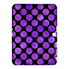 Circles2 Black Marble & Purple Watercolor (r) Samsung Galaxy Tab 4 (10 1 ) Hardshell Case  by trendistuff