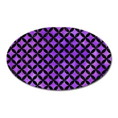 Circles3 Black Marble & Purple Watercolor Oval Magnet by trendistuff