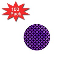 Circles3 Black Marble & Purple Watercolor (r) 1  Mini Magnets (100 Pack)  by trendistuff