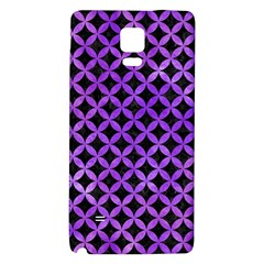 Circles3 Black Marble & Purple Watercolor (r) Galaxy Note 4 Back Case by trendistuff