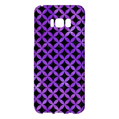 Circles3 Black Marble & Purple Watercolor (r) Samsung Galaxy S8 Plus Hardshell Case