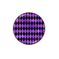 Diamond1 Black Marble & Purple Watercolor Hat Clip Ball Marker (10 Pack) by trendistuff