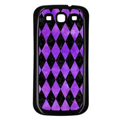 Diamond1 Black Marble & Purple Watercolor Samsung Galaxy S3 Back Case (black) by trendistuff