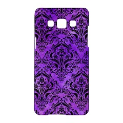 Damask1 Black Marble & Purple Watercolor Samsung Galaxy A5 Hardshell Case  by trendistuff