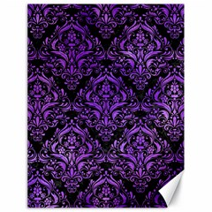 Damask1 Black Marble & Purple Watercolor (r) Canvas 18  X 24   by trendistuff