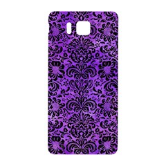 Damask2 Black Marble & Purple Watercolor Samsung Galaxy Alpha Hardshell Back Case by trendistuff