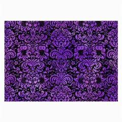Damask2 Black Marble & Purple Watercolor (r) Large Glasses Cloth by trendistuff