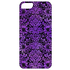Damask2 Black Marble & Purple Watercolor (r) Apple Iphone 5 Classic Hardshell Case by trendistuff