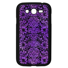 Damask2 Black Marble & Purple Watercolor (r) Samsung Galaxy Grand Duos I9082 Case (black) by trendistuff