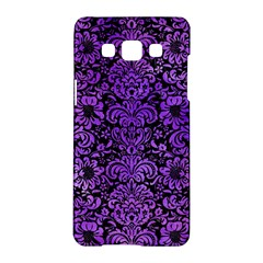Damask2 Black Marble & Purple Watercolor (r) Samsung Galaxy A5 Hardshell Case  by trendistuff